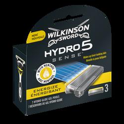 Lames de rasoir hydro 5 sense énergisant WILKINSON, x3
