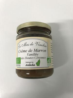 Creme de marron vanillée des hautes cevennes bio 320g