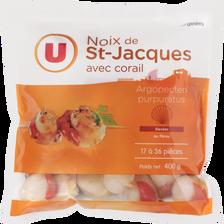 Noix de St Jacques avec corail U, 17/36 pièces, 400g