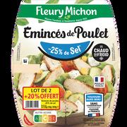 Fleury Michon Emincés De Poulet Grillé Teneur En Sel Réduite Fleury Michon En Lot De2x75g+20% Offert X2, Soit 360g.