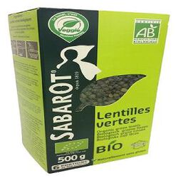lentilles  vertes bio 500g SABAROT