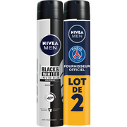 Nivea Déodorant Invisible Black & White Power Nivea Men, 2 Sprays De 200ml