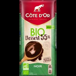 Chocolat dessert noir 55% cacao Bio CÔTE D'OR 150g