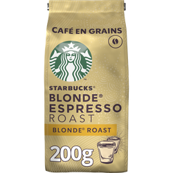 STARBUCKS grains blonde espresso roast, sachet 200g
