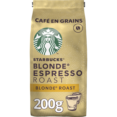 STARBUCKS grains blonde espresso roast, sachet 200g
