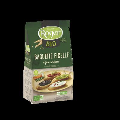 Baguettes ficelles aux céréales bio ROGER, 150g