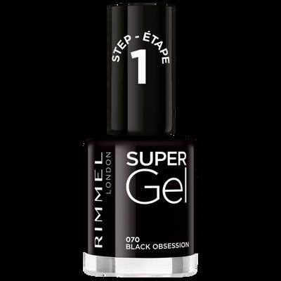 Vernis à ongles super gel 070 intense black RIMMEL, nu, 12ml