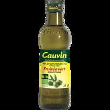 Huile d'olive vierge extra fruitée d'Espagne bio CAUVIN, 25cl
