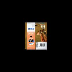 Cartouche d'encre EPSON pour imprimante, T0711H noir Girafe x2, sous blister