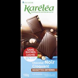Chocolat noir aux noisettes entières KARELEA 150g