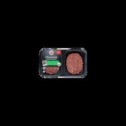 Steak haché, 15% MAT.GR, U NA, charolais, France, 2 pièces, 250g