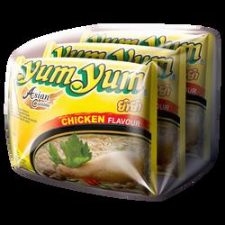 Soupe nouille poulet YUM YUM, 3x60g soit 180g
