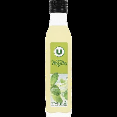 Sirop saveur mojito U, bouteille en verre de 25cl