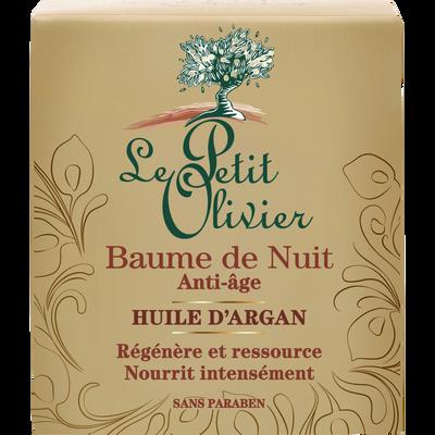 Baume nuit anti-âge huile d'argan LE PETIT OLIVIER, 50ml