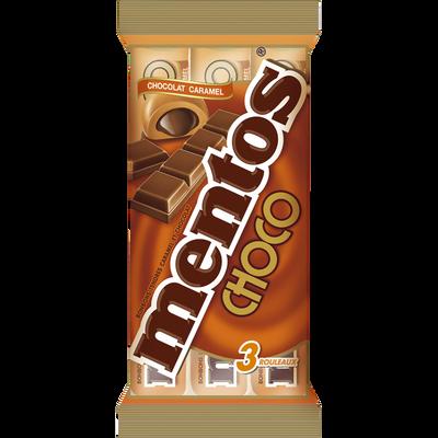 Bonbons au chocolat caramel MENTOS, pack de 3 rouleaux, 114g