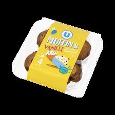 Muffins au goût vanille et aux pépites chocolat U, x4,300g