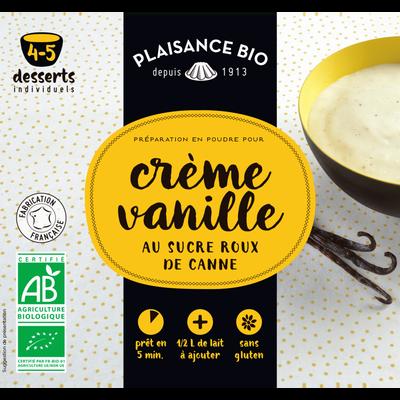 Préparation pour crèmes gourmandes vanille PLAISANCE BIO, 40g