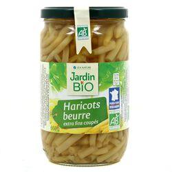 Haricots beurre extra fins coupés - Jardin Bio 660g