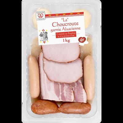 La choucroute garnie alsacienne cuisinée avec graisse d'oie et riesling ILLER, 1kg