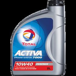 Huile 10W40 pour moteurs essence Activa 7000 TOTAL, 2 litres