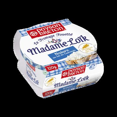 Fromage fouetté nature au sel de Guérande lait pasteurisé 24% de MG, MME LOIK PAYSAN BRETON, 320g