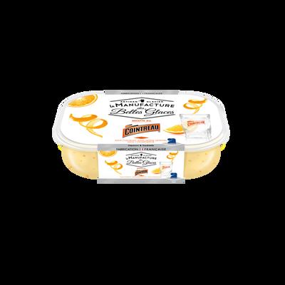 Crème glacée au Cointreau et écorces d'oranges manufacture des bellesglaces 750ml / 487,5g