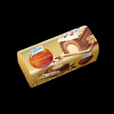 Bûche Exquise 3 chocolats PILPA, 535g