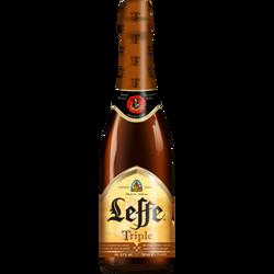 Bière blonde triple ABBAYE DE LEFFE, 8,5°, bouteille de 75cl