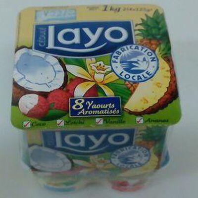 LAYO AROME MULTIFRUIT (COCO, VANILLE, LETCHI ANANAS) 8X125G