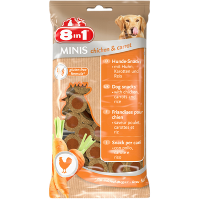 Minis chicken and carrot, 8 IN 1, 100g