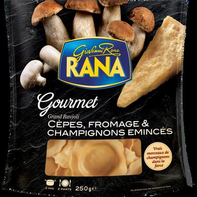 Grands raviolis aux cèpes et émincés de champignons GIOVANNI RANA, 250g