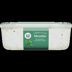 Crème glacée menthe chocolat U, 500g