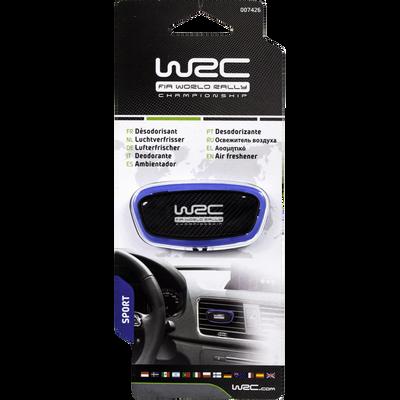 Désodorisant rally stick déco pour aérateur, senteur sport, motifcarbone aux couleurs de WRC pour fans et supporters de l'esprit rally