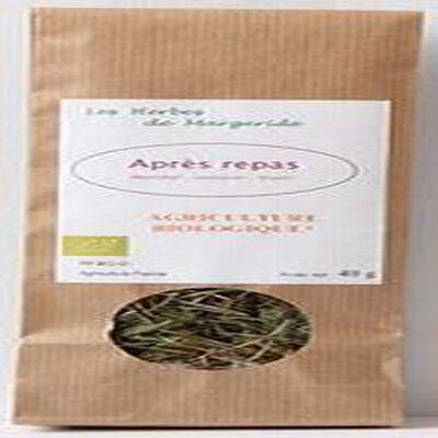 Les herbes de Margeride, Après repas (Menthe, romarin, thym), Bio 40g