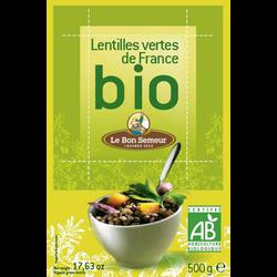 Lentilles vertes de France bio LE BON SEMEUR, paquet de 500g