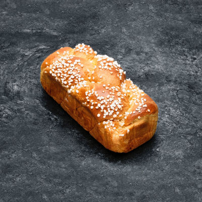 Brioche Tressée, recette avec beurre coloré, 600g
