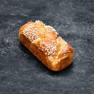 Brioche tressée, 400g TRAD recette avec beurre coloré