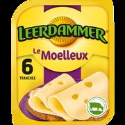 Leerdammer Fromage Au Lait Pasteurisé En Tranches Le Moelleux Leerdammer, 30%mg,x6, 150g