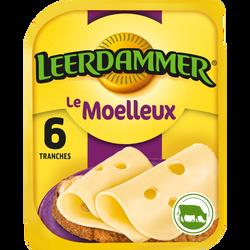 Fromage au lait pasteurisé en tranches Le Moelleux LEERDAMMER, 30%MG,x6, 150g