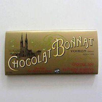 Chocolat noir au beurre de cacao praliné amandes BONNAT,100gr