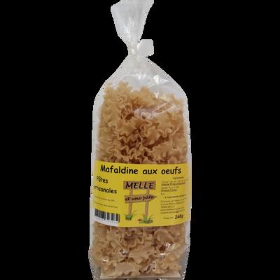 Pâtes artisanales mafaldine aux oeufs MELLE ET UNE PATE, 240g
