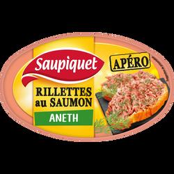 Rillettes au saumon et à l'aneth SAUPIQUET, 115g