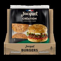 Pain pour hamburger création graines JACQUET x4 260g
