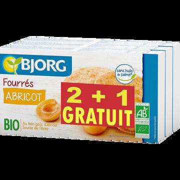 Bjorg Biscuits Fourrés À L'abricot Bio Bjorg, 2 Paquets De 175g