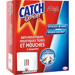 Insecticide anti-volants CATCH, 2 plaquettes