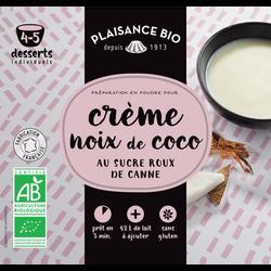 Préparation pour crèmes gourmande à la noix de coco PLAISANCE BIO, 40g
