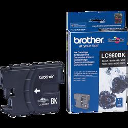 Cartouche d'encre BROTHER pour imprimante, LC980 noir, sous blister