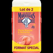 Le Petit Marseillais Gel Douche Extra Doux Parfum Pêche Blanche Et Nectarine Le Petit Marseillais, 2 Flacons De 250ml