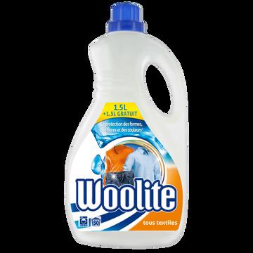Woolite Lessive Liquide Protection Complète Tous Textiles Woolite, 1,5l +1,5loffert