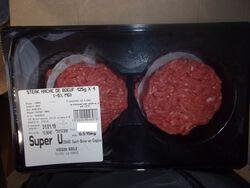 Steak Haché Boeuf 4x125GR (-5%MG) 500GR